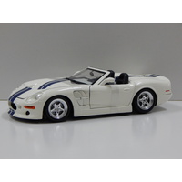 1:18 Shelby Series 1 (White with Blue Stripes)