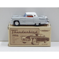 1:60 1956 Thunderbird (Silver with White Roof) - Made in Japan