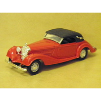 1:43 1939 MERCEDES 540 K (RED WITH BLACK ROOF)