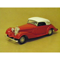 1:43 1939 MERCEDES 540 K (RED WITH WHITE ROOF)