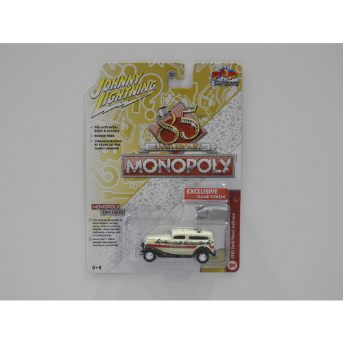 "1:64 1933 Ford Panel Delivery - Johnny Lightning Pop Culture ""Monopoly"""